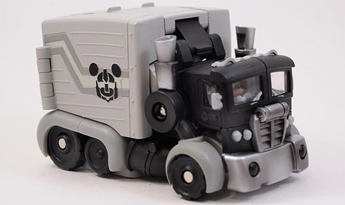 Optimus Prime meets Mickey Mouse Transformer Truck Mode by Disney and Takara