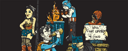 Threadless Fighting Crime Doesn't Pay by Stef McFeters