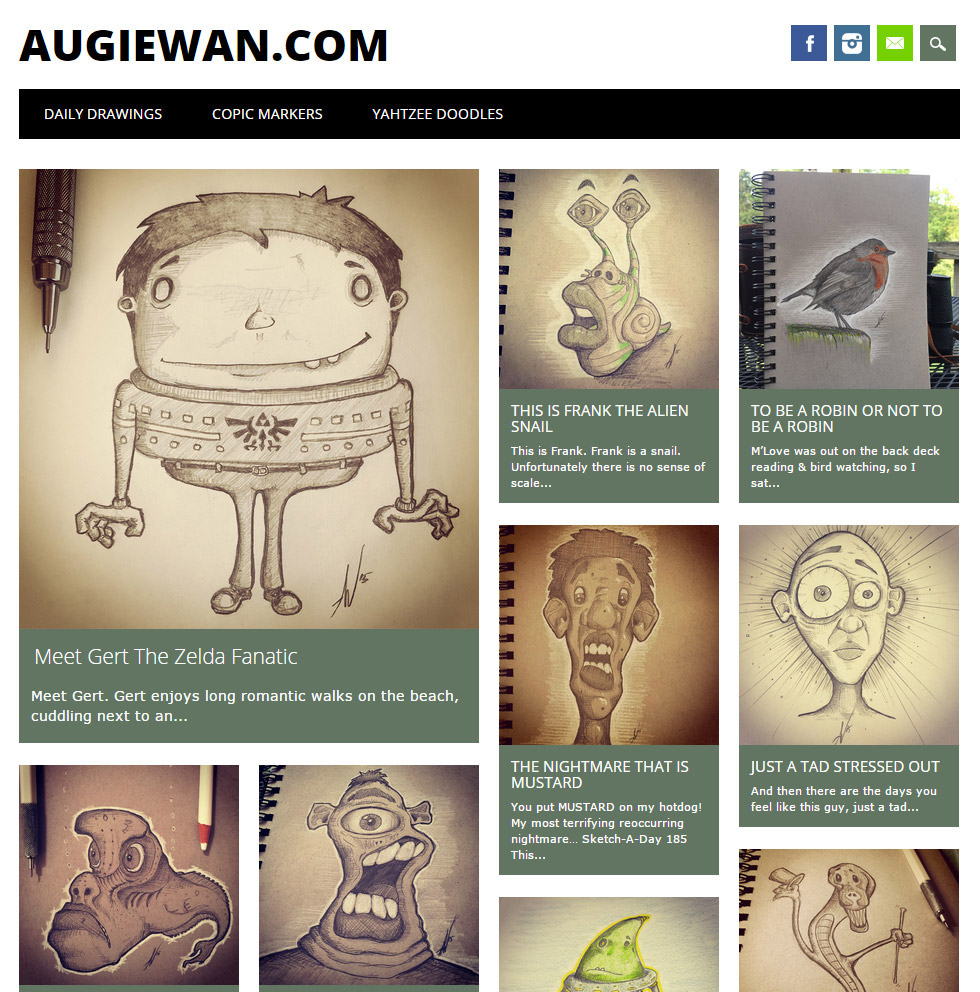 Augiewan's Art Blog Is Live